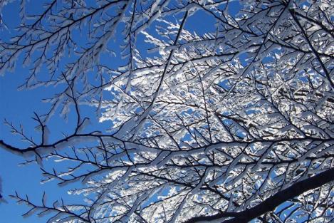 Giochi di luce creati dalla neve - Foto Andrea Macco