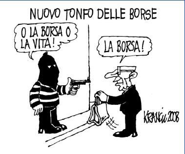 La vignetta di Krancic tratta da  il Giornale del 16 Ott 2008