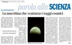 Articolo Andrea Macco - il Giornale 2-01-08 - Raggi Cosmici - Auger e UniGe