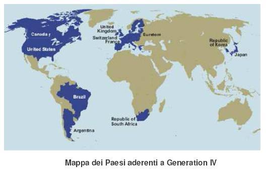 Paesi che aderiscono a Generation IV