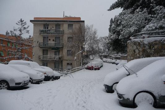 Via Ausonia alta - Nevicata del 7 gennaio 2008