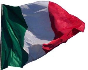 La gloriosa bandiera dell'Italia