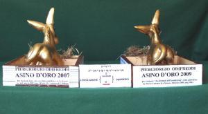 evoluzione: da asino d'oro 2007 ad asino d'oro 2009