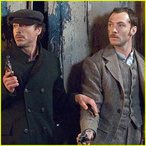 Holmes & Watson durante una scena del film