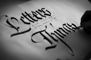 lettere - carta gotica