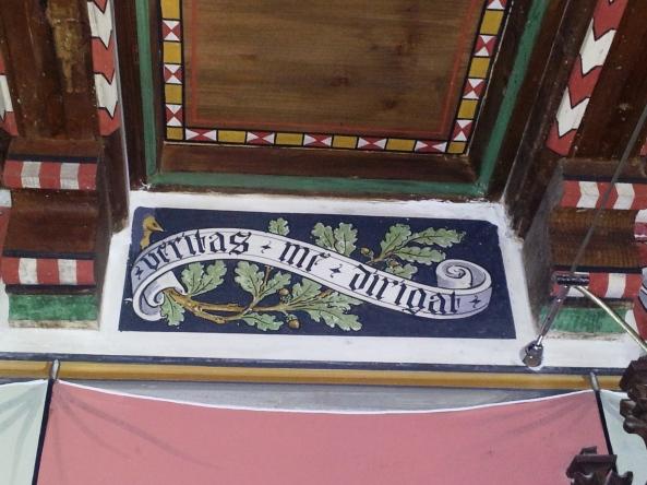 Motto della Sala consiliare di Ayas - Antagnod - Foto A.Macco