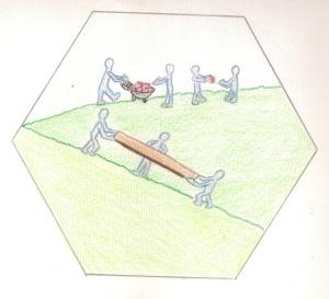 La specialità matematica di collaboratore usata negli anni scolastici 2013-14 e 2014-15 (disegno di Chiara Losio)