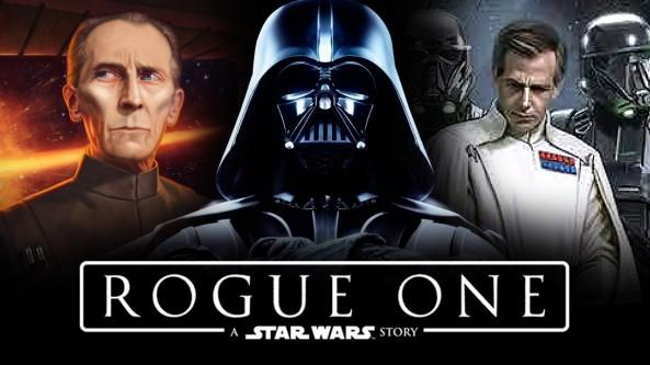 I tre principali protagonisti del lato oscuro della forza in Rogue One (l'Imperatore è solo nominato)